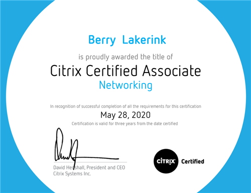 Citrix NetScaler Network Certified